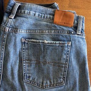 Lucky Brand straight leg jeans.